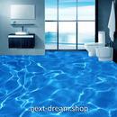 3D 壁紙 1ピース 1㎡ 床用 自然風景 青い海 水面 DIY リフォーム インテリア 部屋 寝室 防湿 防音 h03562