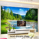 3D 壁紙 1ピース 1㎡ 自然風景 小川 山 空 癒しの景色 インテリア 装飾 寝室 リビング h02218