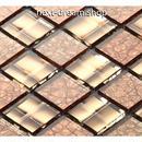 3D壁紙 30×30cm 11枚セット クリスタルガラス ブラウン 大理石 DIY リフォーム インテリア 部屋/浴室/トイレにも h04487