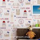 3D 壁紙 53×1000㎝ 子供部屋 地中海 DIY 不織布 カビ対策 防湿 防水 吸音 インテリア 寝室 リビング h02006