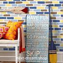 3D 壁紙 53×1000㎝ レンガ模様 ペイント  PVC 防水 カビ対策 おしゃれクロス インテリア 装飾 寝室 リビング h01926