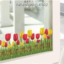 ウォールステッカー 花 チューリップ 自然 ガラス用  お洒落シール DIY キッチン 寝室 リビング トイレ 子供部屋  m01412
