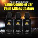 車コーティングキット 液体ガラス セラミッククリスタル 硬度9H カーワックス  疎水性 新品送料込 m00378