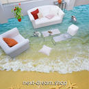 3D 壁紙 1ピース 1㎡ 床用 自然風景 ビーチ 砂浜 DIY リフォーム インテリア 部屋 寝室 防湿 防音 h03521