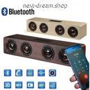 新品送料込  ポータブルスピーカー Bluetooth ワイヤレス 木製 低音  おしゃれ 音楽 ホームシアター キャンプ パーティ 贈り物に◎ m00731