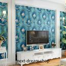 3D 壁紙 53×1000㎝ レトロ ダマスク柄 DIY 不織布 カビ対策 防湿 防水 吸音 インテリア 寝室 リビング h01954