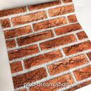 3D壁紙 45×1000cm 石レンガ ブラウン 茶色 DIY リフォーム インテリア 部屋・キッチン・家具にも 防湿 防音 h03707