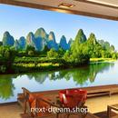 3D 壁紙 1ピース 1㎡ 自然風景 アジアの山 湖  インテリア 装飾 寝室 リビング 耐水 防カビ h02390
