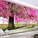 3D 壁紙 1ピース 1㎡ 自然風景 桜 散歩道 鹿 花 インテリア 装飾 寝室 リビング h02289