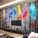 3D 壁紙 1ピース 1㎡ 木の家 ウォールアート 羽根 DIY リフォーム インテリア 部屋 寝室 防湿 防音 h03127
