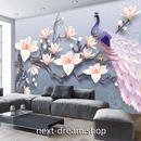 3D 壁紙 1ピース 1㎡ 立体アート モクレンの花 孔雀 DIY リフォーム インテリア 部屋 寝室 防湿 防音 h03140