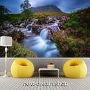 3D 壁紙 1ピース 1㎡ 自然風景 小さい滝と小川の景色 植物 インテリア 装飾 寝室 リビング 耐水 防カビ h02405