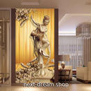 3D 壁紙 玄関用 1ピース 1㎡ 木彫りの仏像 アジア インテリア 装飾 部屋 耐水 防湿 耐衝撃 騒音吸収 h02712