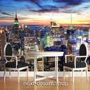 3D 壁紙 1ピース 1㎡ シティ風景 大都市 夕焼け DIY リフォーム インテリア 部屋 寝室 防湿 防音 h03310