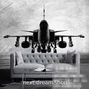 3D 壁紙 1ピース 1㎡ 飛行機 モノクロ 手書き DIY リフォーム インテリア 部屋 寝室 防湿 防音 h03276