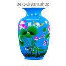 新品送料込  花瓶 磁器 孔雀 柄模様 アンティーク ヴィンテージ 高級装飾 ホームインテリア 贈り物  m00544