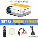 新品送料込   プロジェクター ホームシアター用  ポータブルミニ LED シネマビデオ HD HDMI USB 1080P  m00508