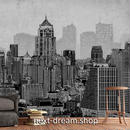 3D 壁紙 1ピース 1㎡ シティ風景 モノクロ 絵画 DIY リフォーム インテリア 部屋 寝室 防湿 防音 h03367