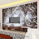 3D 壁紙 1ピース 1㎡ ヨーロッパレトロ モノクロ 花 インテリア 部屋装飾 耐水 防湿 防音 h02949