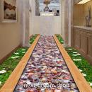 3D 壁紙 1ピース 1㎡ 床用 自然風景 石畳 花 DIY リフォーム インテリア 部屋 寝室 防湿 防音 h03535