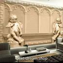 3D 壁紙 1ピース 1㎡ ヨーロッパレトロ 立体彫刻 インテリア 部屋装飾 耐水 防湿 防音 h02935