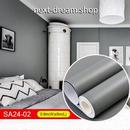 壁紙 60×500cm 無地 ダークグレー 灰色 DIY リフォーム インテリア 部屋 キッチン 家具にも 防水 防湿 h03751