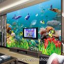 3D 壁紙 1ピース 1㎡ 子供部屋 海藻 イルカ クラゲ インテリア 装飾 寝室 リビング 耐水 防湿 h02564