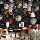 3D 壁紙 1ピース 1㎡ ヨーロッパレトロ 花 薔薇 インテリア 部屋装飾 耐水 防湿 防音 h02809