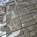 3D壁紙 29.8×29.8cm 11枚セット 金属タイル 銀 メープルリーフ DIY リフォーム インテリア 部屋/キッチン/トイレにも h04404
