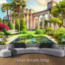 3D 壁紙 1ピース 1㎡ 自然風景 庭園 ヨーロッパ DIY リフォーム インテリア 部屋 寝室 防湿 防音 h03383