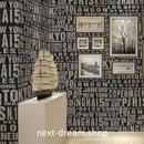 3D 壁紙 53×1000㎝ アルファベット ロゴ 英字 PVC 防水 カビ対策 おしゃれクロス インテリア 装飾 寝室 リビング h01930