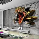 3D 壁紙 1ピース 1㎡ ウォールアート 恐竜 ティラノサウルス インテリア 装飾 寝室 リビング 耐水 防湿 h02510
