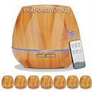 加湿器 超音波式 空気清浄機 550ml アロマ 7色に光る 木目  乾燥・肌荒れ・風邪・花粉症予防  オフィス インテリア  m01279