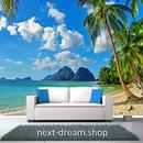 3D 壁紙 1ピース 1㎡ 自然風景 海の景色 ビーチ ヤシの木 島 インテリア 装飾 寝室 リビング h02347
