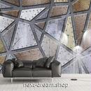 3D 壁紙 1ピース 1㎡ モダン インダストリアル調 金属 鉄 インテリア 部屋 寝室 リビング 防湿 防音 h03043