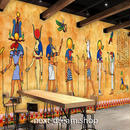 3D 壁紙 1ピース 1㎡ 古代エジブト 壁画 おしゃれ インテリア 部屋装飾 耐水 防湿 防音 h02822