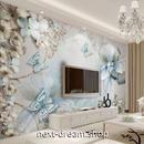 3D 壁紙 1ピース 1㎡ エレガント フラワー 蝶々 インテリア 部屋 寝室 リビング 防湿 防音 h03007