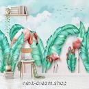3D 壁紙 1ピース 1㎡ 熱帯雨林 フラミンゴ 観葉植物 インテリア 装飾 寝室 リビング h02269