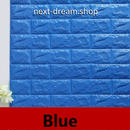 3D壁紙 70×77cm 1PCS レンガ 青 ブルー  DIY リフォーム インテリア 部屋/リビング/家具にも 防水ポリエチレン 防音 h04256