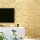 3D 壁紙 53×1000㎝ モダン ドット模様 DIY 不織布 カビ対策 防湿 防水 吸音 インテリア 寝室 リビング h01970