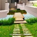3D 壁紙 1ピース 1㎡ 床用 自然風景 トレイル 湖 DIY リフォーム インテリア 部屋 寝室 防湿 防音 h03547