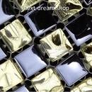 3D壁紙 30×30cm 11枚セット ガラスモザイク 格子 金×黒 DIY リフォーム インテリア 部屋/浴室/トイレにも h04471