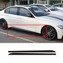 BMW 黒 光沢 サイドスカート デコレーション ステッカー 5D カーボンファイバー 3シリーズ F30 F31用 新品 h00011