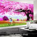 3D 壁紙 1ピース 1㎡ 自然風景 桜の木 公園 散歩道 インテリア 装飾 寝室 リビング 耐水 防カビ h02367
