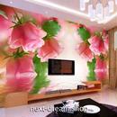 3D 壁紙 1ピース 1㎡ ヨーロッパモダン ピンク薔薇 写真 インテリア 部屋装飾 耐水 防湿 防音 h02970