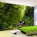 3D 壁紙 1ピース 1㎡ 森林 自然風景 小川 防カビ 耐水 おしゃれ クロス インテリア 装飾 寝室 リビング h01799