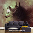 3D 壁紙 1ピース 1㎡ 動物描写 オオカミ インテリア 装飾 寝室 リビング 耐水 防湿 h02486