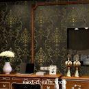 3D 壁紙 53×1000㎝ レトロ ダマスク柄 DIY 不織布 カビ対策 防湿 防水 吸音 インテリア 寝室 リビング h02003