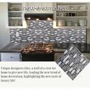 3D壁紙 23×23cm 4PCS 長方形モザイクタイル グレー×白 DIY リフォーム インテリア キッチン/浴室/トイレにも 防水 防カビ h04337