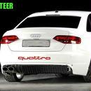 アウディ ステッカー エンブレム ボディ リア Audi A1 A3 A4 A4L A6 A6L A7 A8 Q3 Q5 Q7 TT S RS h00332
